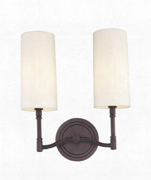 "Dillon 12"" 2 Light Wall Sconce In Old Bronze"