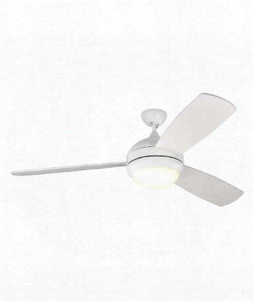 Discus Trio Max Led 1 Light Ceiling Fan In Rubberized White