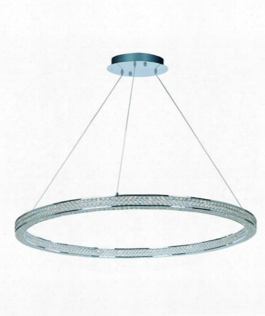 "Eternity 50"" Led 4 Light Foyer Pendant In Polished Chrome"