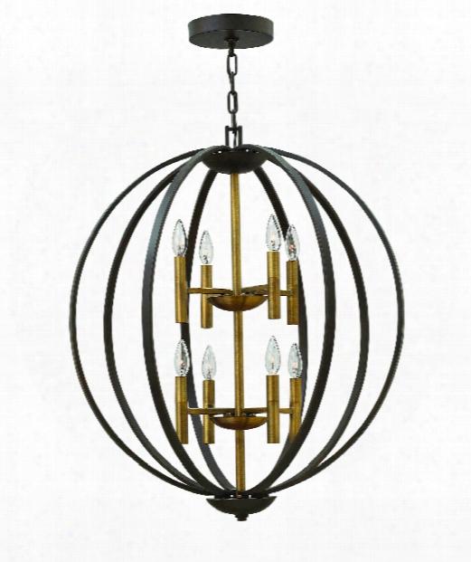 "Euclid 28"" 8 Light Chandelier In Spanish Bronze"