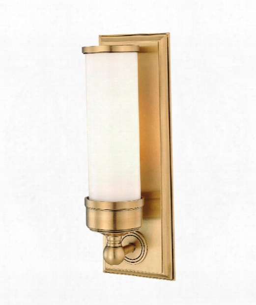 "Everett 5"" 1 Light Wall Sconce In Aged Brass"