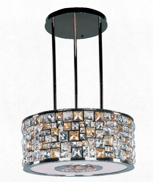 "Fifth Avenue 22"" 8 Light Large Pendant In Luster Bronze"