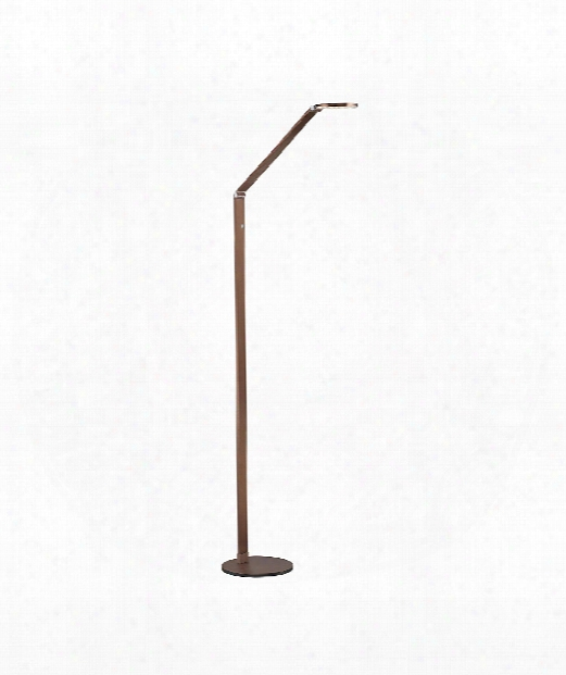 """Fusion 9"""" Led 1 Light Reading Lamp In Rose Gold Bronze"""