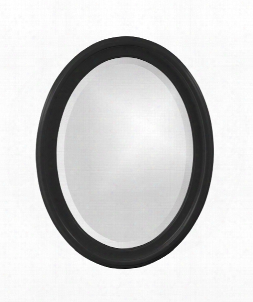 "George 25"" Wall Mirror In Black"