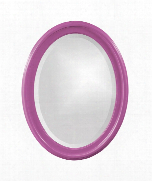 """George 25"""" Wall Mirror In Hot Pink"""