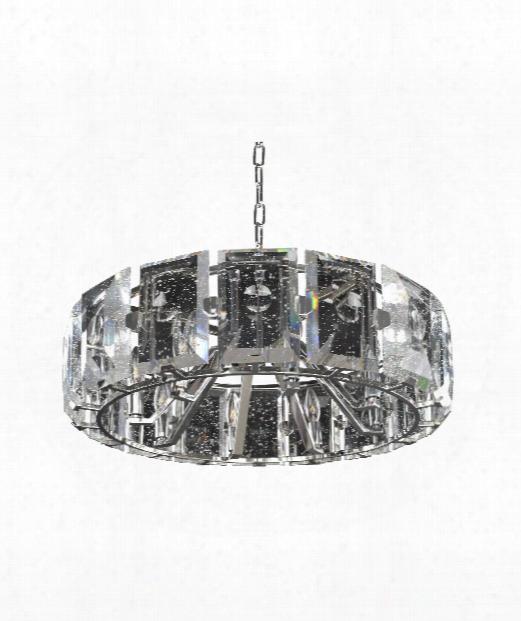 "Giada 27"" 8 Light Large Pendant In Stainless Steel"