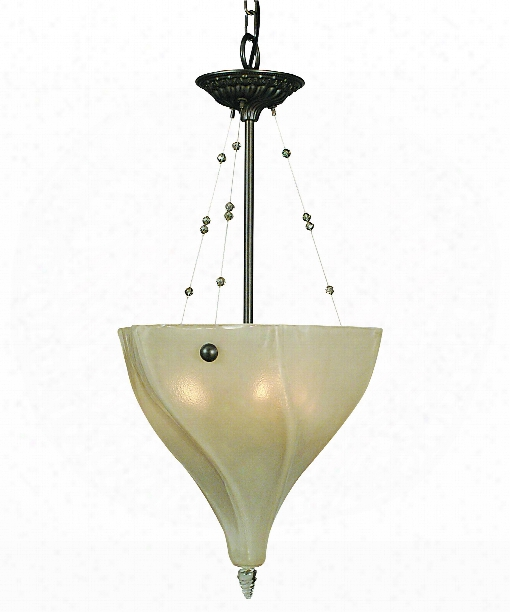 "Giselle 14"" 3 Light Mini Pendant In Mahogany Bronze"