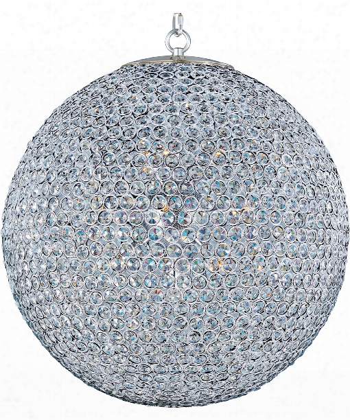 """Glimmer 24"""" 12 Light Large Pendant In Plated Silver"""