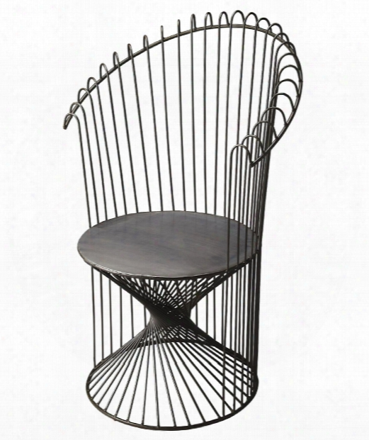 """Industrial Chic 28"""" Occasional Chair In Gray"""