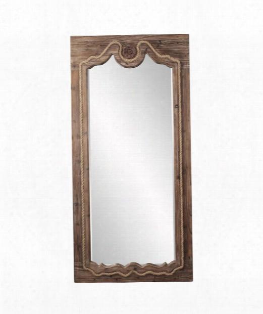 "Jeremiah 37"" Wall Mirror In Brown"