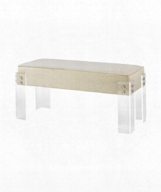 "Kobenhavn 40"" Bench In Cream And Clear"