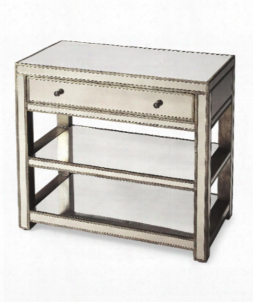 "Masterpiece 30"" Console Table In Siver"