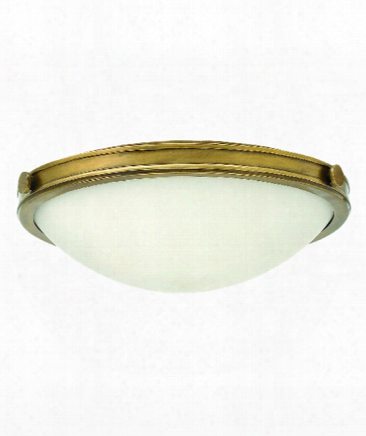 "Maxwell 19"" 3 Light Flush Mount In Heritage Brass"