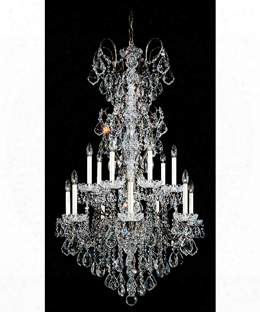 """New Orleans 32"""" 14 Light Chandelier In Etruscan Gold"""