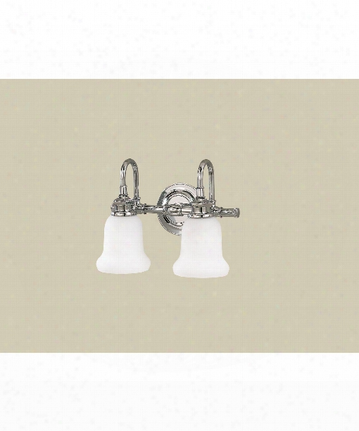 """Plymouth 13"""" 2 Light Bath Vanity Light In Polished Chrome"""