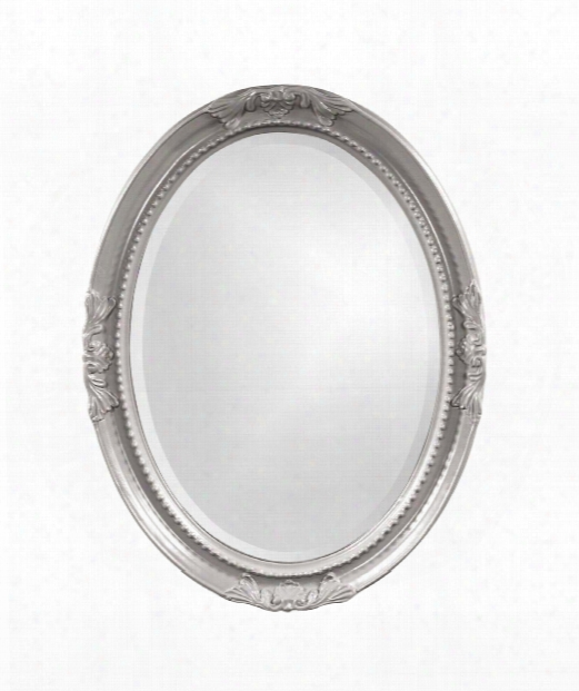 "Queen Ann 25"" Wall Mirror In Nickel"
