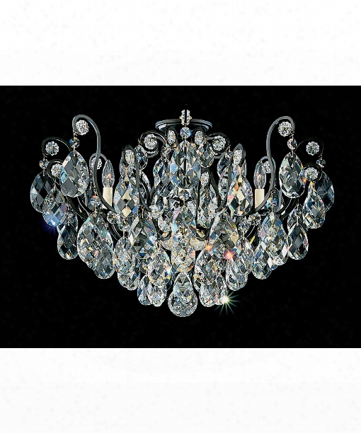 "Renaissance 26"" 8 Light Semi Flush Mount In Black"