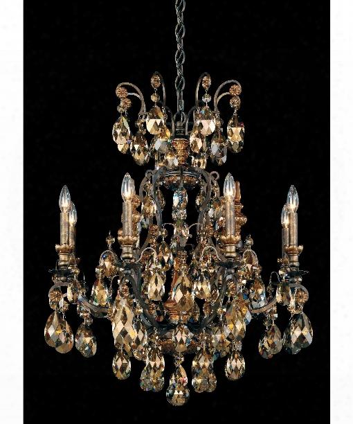 """Renaissance 27"""" 8 Light Chandelier In Heirloom Bronze"""