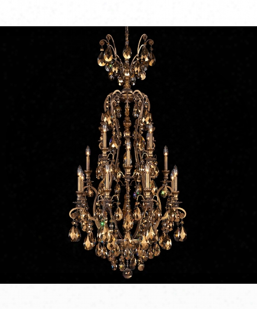 "Renaissance 36"" 25 Light Chandelier In Etruscan  Gold"