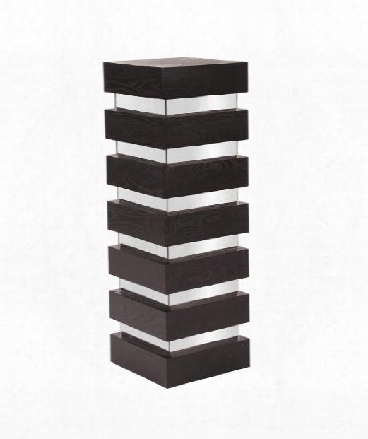 "Stepped 12"" Pedestal In Espresso Wood"