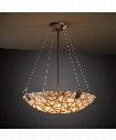"3Form 27"" 6 Light Large Pendant in Dark Bronze"