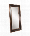 "Blaze 36"" Floor Mirror in Walnut Stain-Copper"
