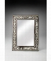 "Bone Inlay 30"" Wall Mirror in Brown Bone"