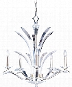 "Paradise 28"" 5 Light Chandelier in Plated Silver"