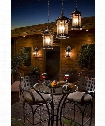 "Santa Barbara VX 11"" 3 Light Outdoor Outdoor Hanging Lantern in Sienna"