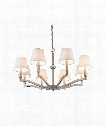 "Waverly 34"" 8 Light Chandelier in Pewter"