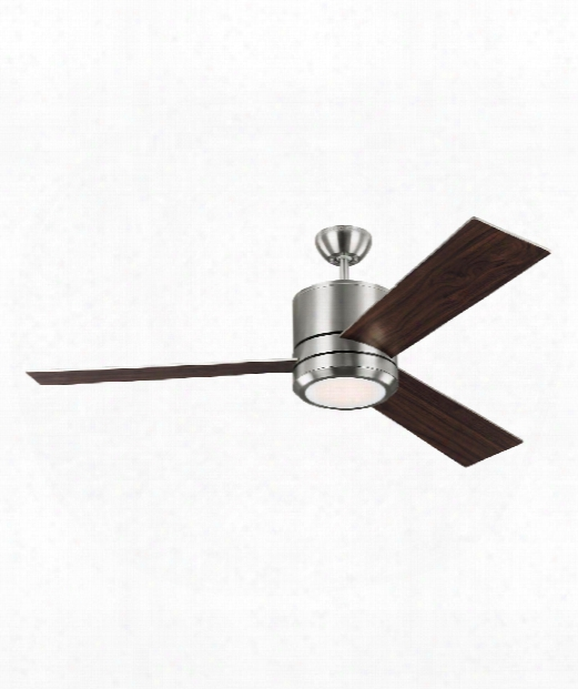 Vision Max Led 1 Light Ceiling Fan In Brushed Steel