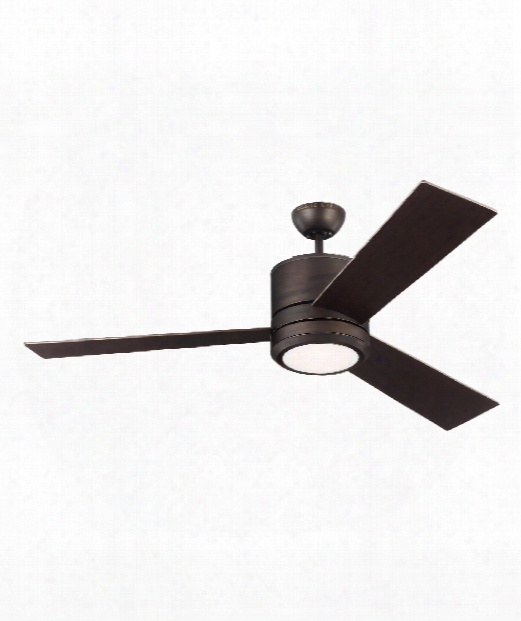 Vision Max Led 1 Light Ceiling Fan In Roman Bronze