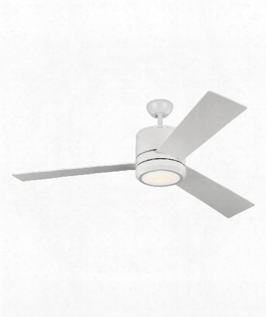 Vision Max Led 1 Light Ceiling Fan In Rubberized White