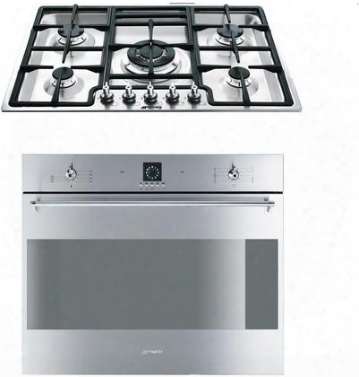 "2-piece Stainless Steel Kitchen Package With Sc709xu 27"" Single Electric Wall Oven And Pgf75u3 30"" Gas"