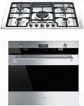 """2-piece Stainless Steel Kitchen Package With Sou330x1 30"""" Single Oven And Pgfu30x 30"""" Gas"""