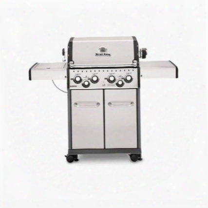 """922587 24"""" Baron S490 With 4 Burners 644 Sq. In. Cooking Space 40000 Btu Main Burner 10000 Btu Side Burner 15000 Btu Rotisserie Burner In Stainless"""