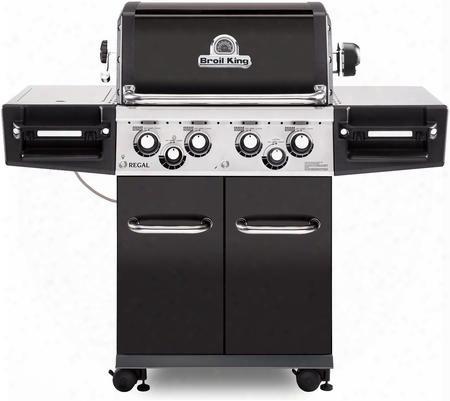 956247r Egal 490 Pro Gas Grill With 4 Burners 50000 Btu Main Burner Output 500 Sq. In. Cooking Area 10000 Btu Side Burner And 15000 Btu Rotisserie Burner