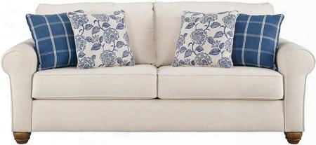 "Adderbury Collection 1440338 90"" Sofa With Bone-tone Upholstery And Comfy Lumbar Pillow In"