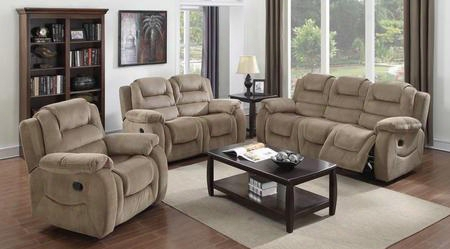 Aspen Collection Su-uzi460-3pc 3 Piece Reclining Living Room Set With Sofa + Loveseat +