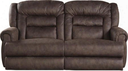 "Atlas Collection 61561-2780-29/2781-29 90"" Power Extra Tall Reclining Sofa With Heavy Duty Fabric Upholstery Steel Seat Box Seating And Comfor-gel Memory Foam"