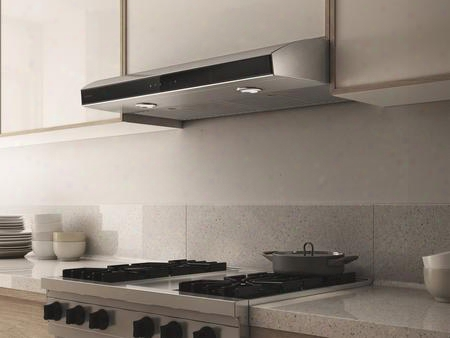 "Eai436ss 36"" Aria Under Cabinet Range Hood With 430 Cfm Internal Blower 2 Stain Less Steel Baffle Slot Heatguard Sensor And Cfm Reduction System In"