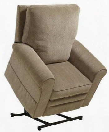 "Edwards Collection 4851-2589-39 38"" Power Lift Recliner With Comfor-gel Comfort Coil Seating Sock Arm Treatment Lay-flat Reclining And Chenille Fabric"