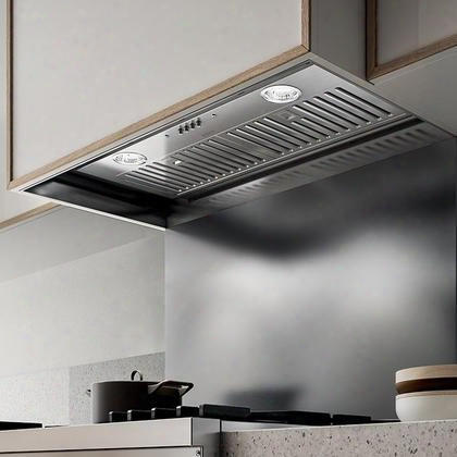 "Epr628s1 30"" Aspire Series Palermo Range Hood Insert With 600 Cfm Internal Blower 2 Stainless Steel Baffle Slot Filters Hush Sound Suppression Led Lighting"