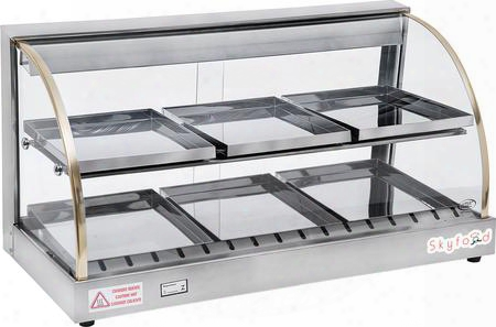 "Fwd2-33 33"" Food Warmer Display Case With Double"