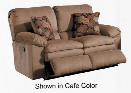 "Impulse Collection 61242 2207-25/1781-29 60"" Power Reclining Loveseat With Pillow Pad Seats Baseball Stitching And Split Back In Moss And Pillows In"