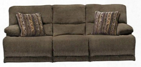 """Jules Collection 62201-1724-38/2345-38 88"""" Power Reclining Sofa With Chenille Fabric Upholstery Pillow Top Arms And Steel Seat Box In Tiger's Eye And Pillows"""