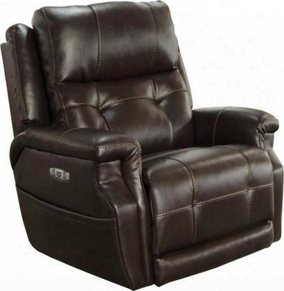 "Kepley Collection 764561-7-1166-89/1266-89 40"" Lay Flat Recliner With Power Lumbar Headrest Extended Ottoman Control Panel Technology Comfort Coil Seating"