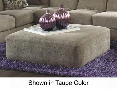 """Malibu Collection 3239-28-2668-44 52"""" Cocktail Ottoman With Chenille Fabric Upholstery And Piped Stitching In"""