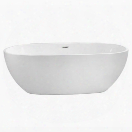 "N30059fswhfm 59"" Streamline N-300-59fswh-fm Soaking Freestanding Tub With Internal"