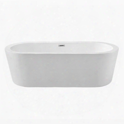 "N36167fswhfm 67""; Streamline N-361-67fswh-fm Soaking Freestanding Tub With Internal"